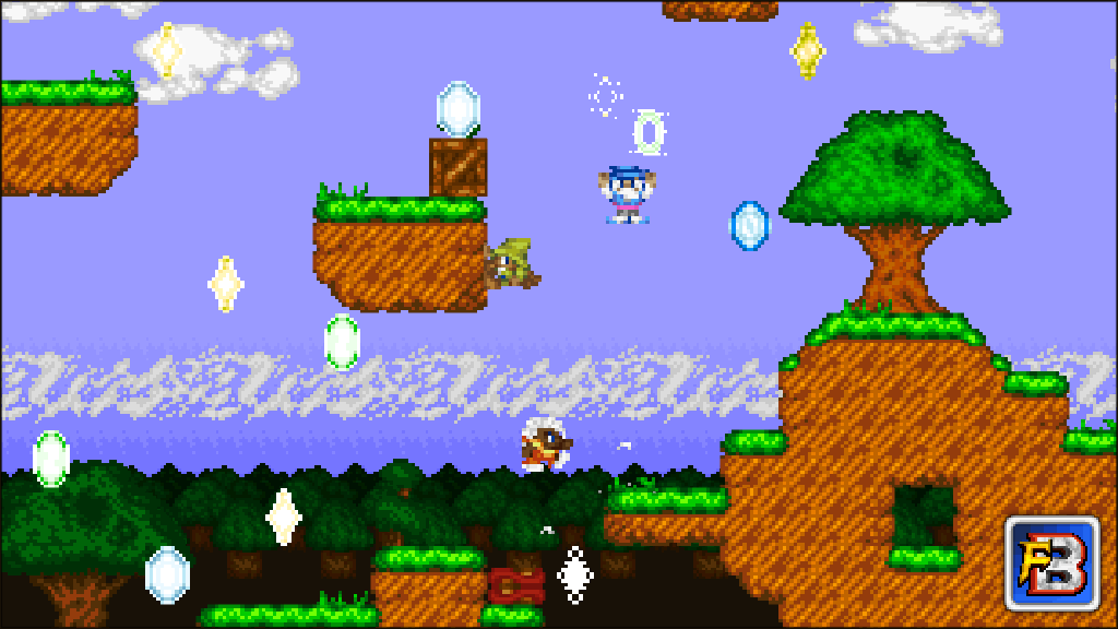 Fantasy Bump screenshot - Gem Rush in the Verdant Plains