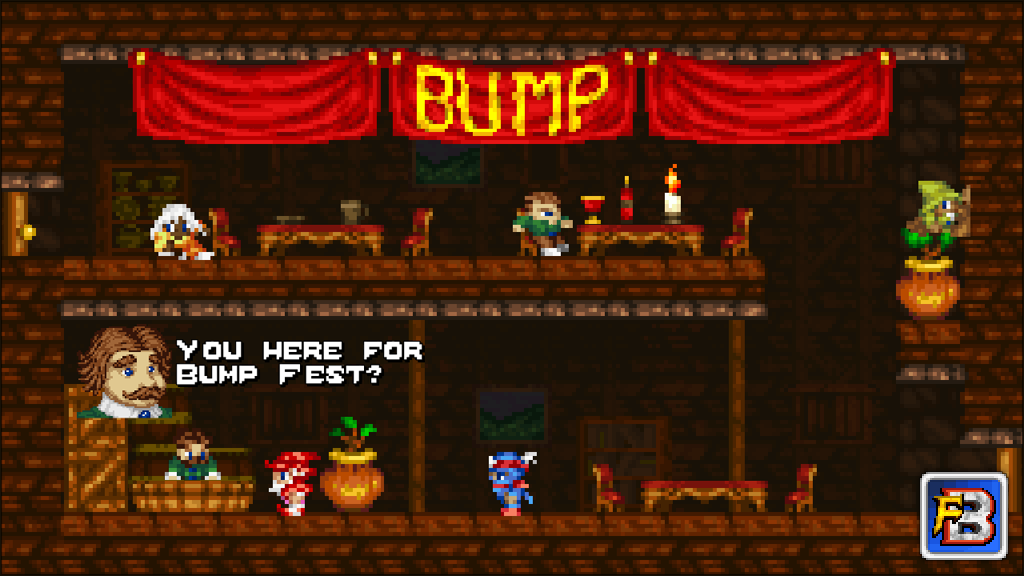 Fantasy Bump screenshot - Players relaxing in the Tavern